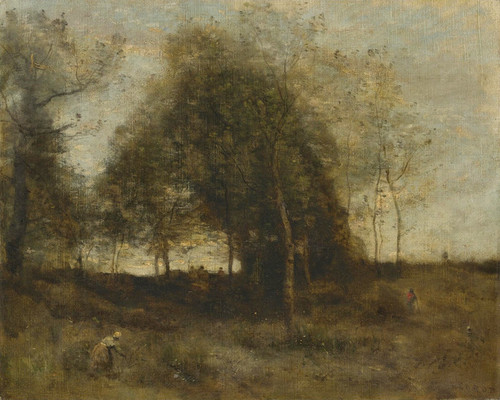 Art Prints of Evening in Normandy by Camille Corot