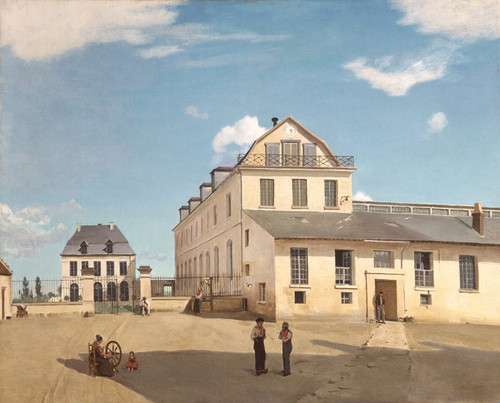 Art Prints of House and Factory of Monsieur Henri by Camille Corot