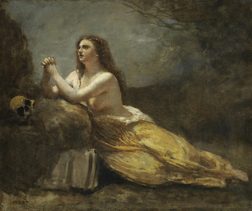 Art Prints of Madeleine in Prayer by Camille Corot
