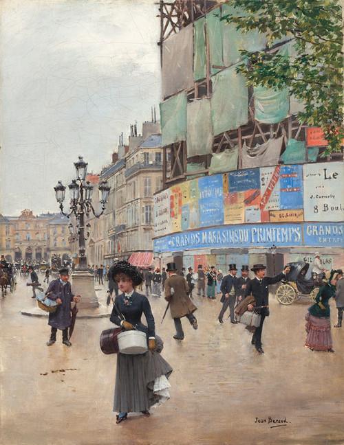 Art Prints of Paris, Rue du Havre 1882 by Jean Beraud