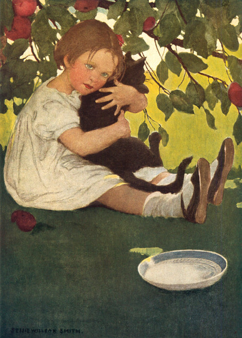 Art Prints of I Love the Cat, 1935 by Jessie Willcox Smith