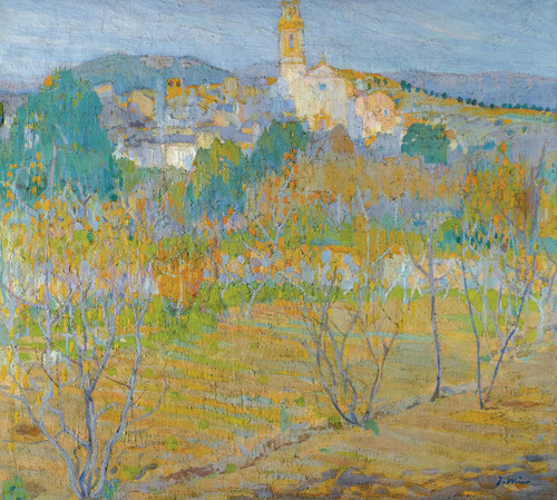 Art Prints of A View of Santa Maria Maspujols by Joaquim Mir