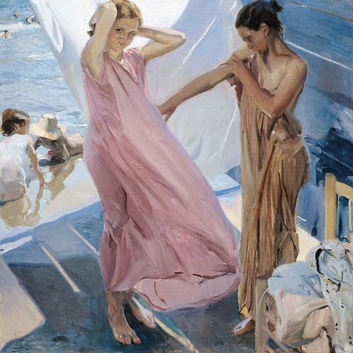 Art Prints of After Bathing, Valencia by Joaquin Sorolla y Bastida