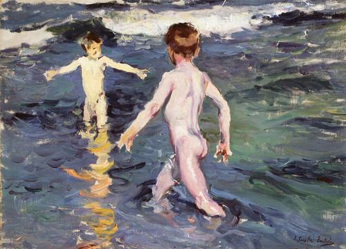 Art Prints of Children at Sea by Joaquin Sorolla y Bastida