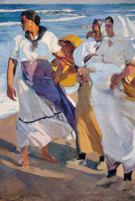 Art Prints of Fisherwomen from Valencia by Joaquin Sorolla y Bastida