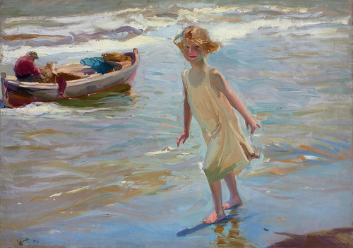 Art Prints of Girl on the Beach by Joaquin Sorolla y Bastida