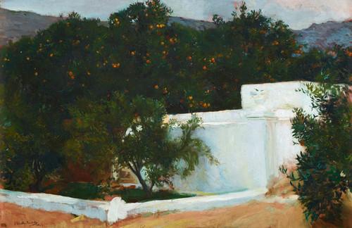 Art Prints of Orange Trees on the Road to the Sea by Joaquin Sorolla y Bastida