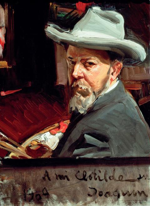 Art Prints of Self Portrait in a Hat by Joaquin Sorolla y Bastida