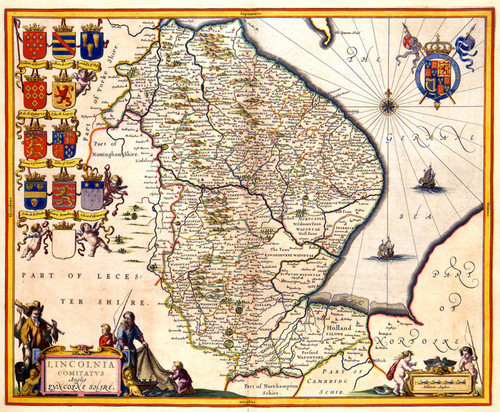 Art Prints of Lincolnshire, 1646 (430) by Johannes Jannsonius