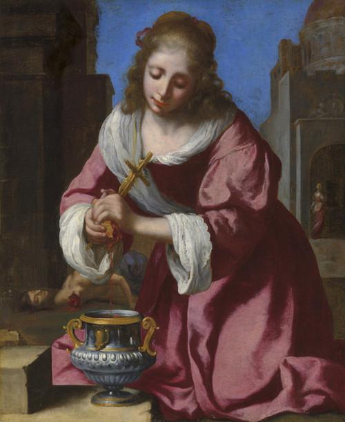 Art Prints of Saint Praxedis by Johannes Vermeer