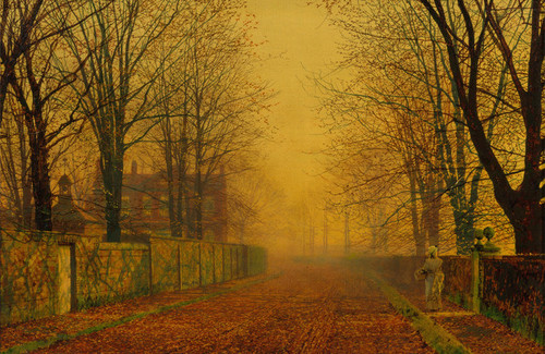 Art Prints of Evening Glow by John Atkinson Grimshaw