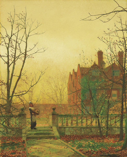 Art Prints of Autumn Gold by John Atkinson Grimshaw