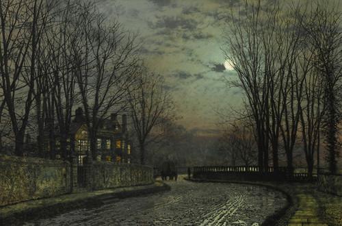 Art Prints of Moonlight After Rain by John Atkinson Grimshaw
