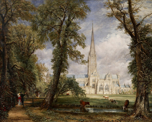 Art Prints of Salisbury Cathedral from the Bishop's Garden by John Constable