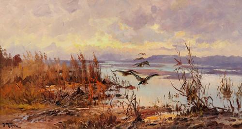 Art Prints of Ducks Over the Marsh by John Fery
