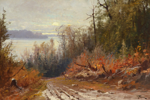 Art Prints of Flathead Lake, View from the East Shore by John Fery