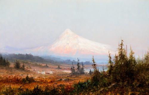 Art Prints of Indian Encampment at Mt. Hood by John Fery