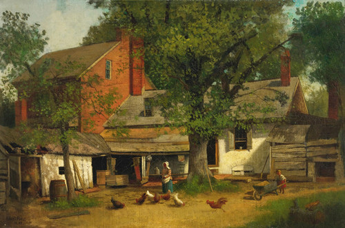 Art Prints of Old House at Coopers Point by John Frederick Peto