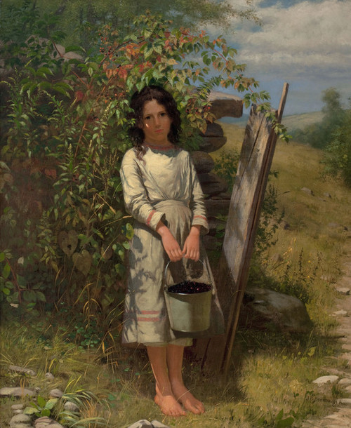 Art Prints of Blackberry Picking by John George Brown