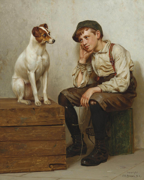 Art Prints of Mutual Admiration by John George Brown