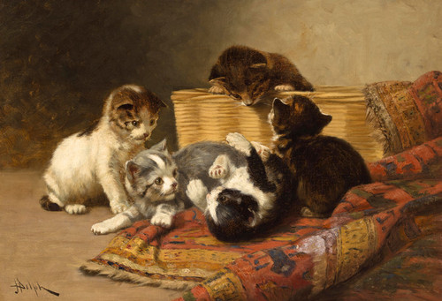 Art Prints of Playing Kittens by John Henry Dolph