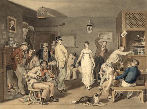 Art Prints of Barroom Dancing, 1820 (22808L) by John Lewis Krimmel