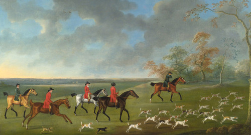 Art Prints of A Group of Mounted Fox Hunters by John Nost Sartorius