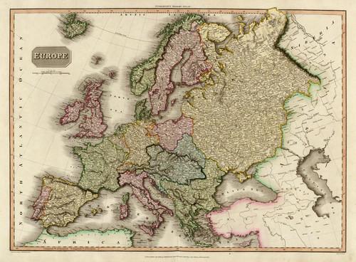 Art Prints of Europe, 1814 (0732005) by John Pinkerton