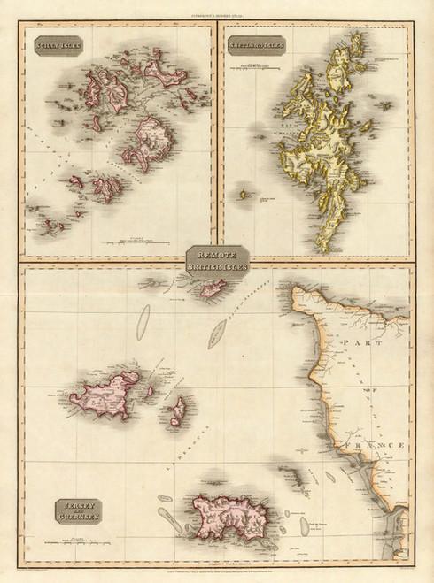 Art Prints of Remote British Isles, 1814 (0732014) by John Pinkerton