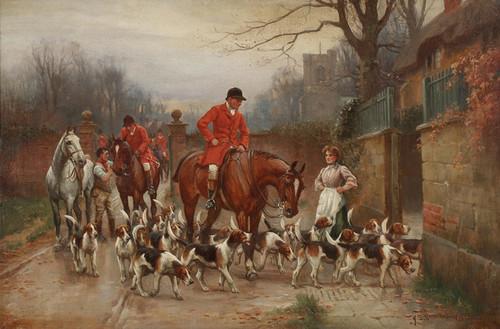 Art Prints of Hunting Scene by John Sanderson Wells