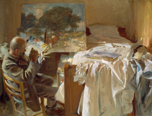 Art Prints of An Artist in His Studio by John Singer Sargent