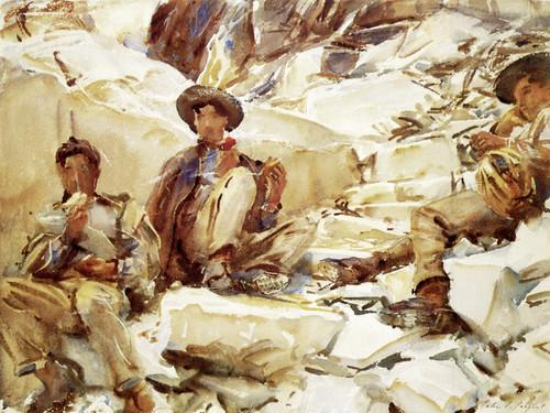 Art Prints of Carrara Workmen by John Singer Sargent