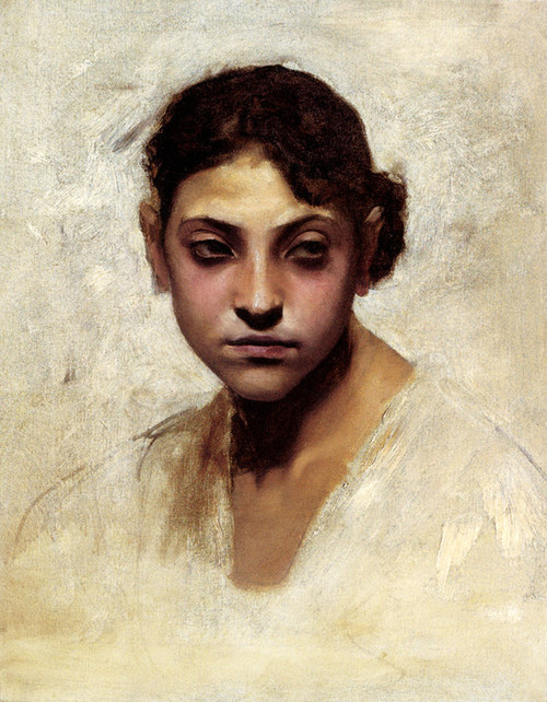 Art Prints of Head of a Capri Girl by John Singer Sargent