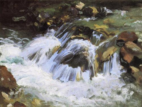 Art Prints of Mountain Stream, Tyrol by John Singer Sargent