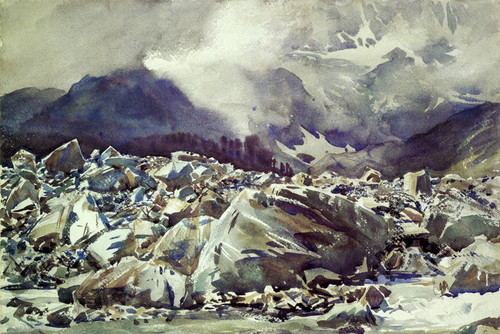 Art Prints of Simplon Pass Avalanche Track by John Singer Sargent