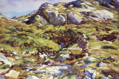 Art Prints of Mountain Brook in Simplon Pass by John Singer Sargent
