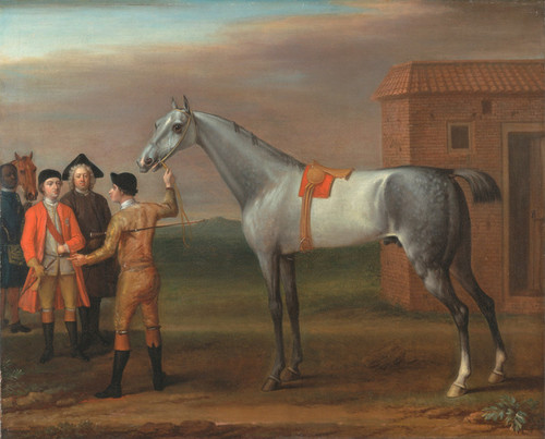 Art Prints of Lamprey with His Owner Sir William Morgan at Newmarket by John Wootton