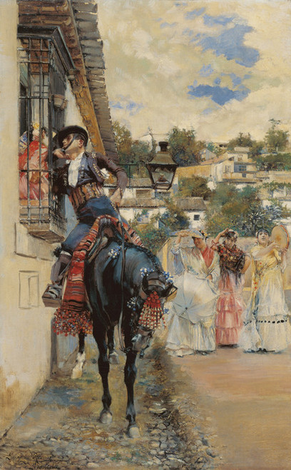 Art Prints of Spanish Courting by Jose Garcia Ramos