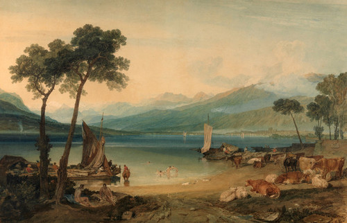 Art Prints of Lake Geneva and Mount Blanc by Joseph Mallord William Turner