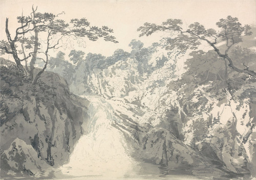 Art Prints of Landscape with Waterfall by William Turner