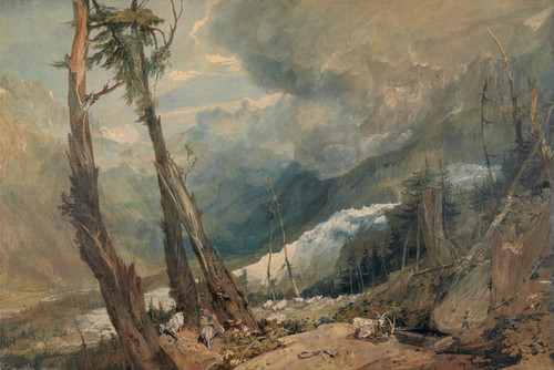 Art Prints of Mer de Glace in the Valley of Chamouni by Joseph Mallord William Turner