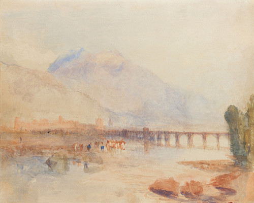 Art Prints of Looking Down the Val d 'Aosta by Joseph Mallord William Turner
