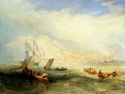 Art Prints of Line Fishing off Hastings by William Turner