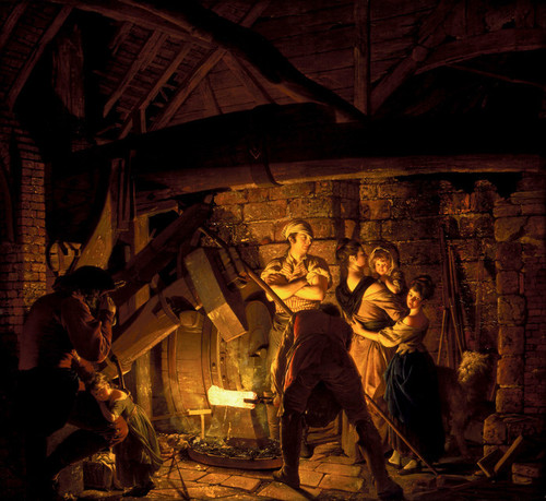 Art Prints of An Iron Forge by Joseph Wright of Derby
