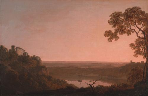 Art Prints of Lake Nemi by Joseph Wright of Derby