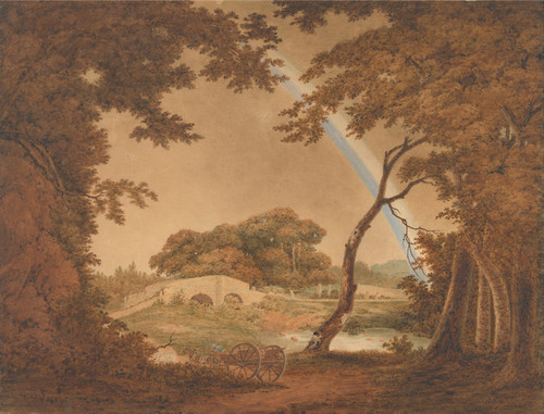 Art Prints of Landscape with Rainbow View Near Chesterfield by Joseph Wright of Derby