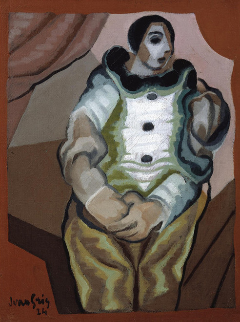 Art Prints of Pierrot with Joined hands by Juan Gris