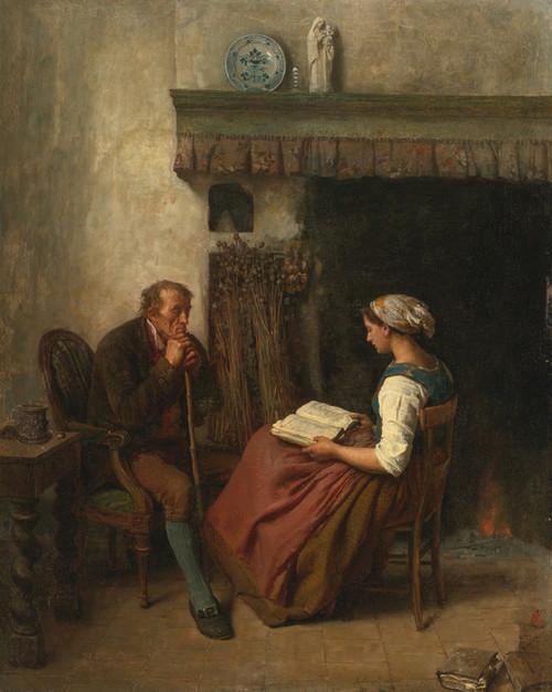 Art Prints of Reading by Jules Breton