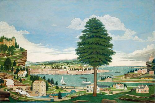 Art Prints of Composite Harbor Scene with Castle 1875 by Jurgan Frederick Hugh