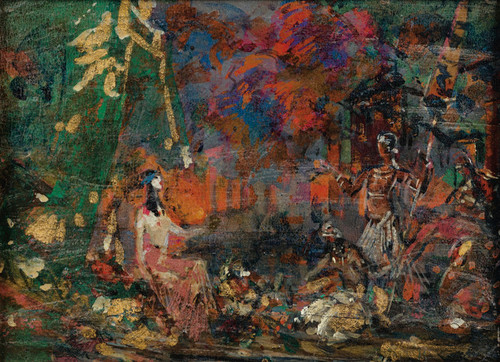 Art Prints of Night View of Paris and Stage Design by Konstantin Alexeevich Korovin